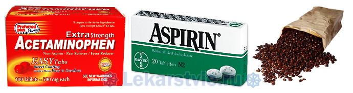 В состав препарата Цитрамон входят ацетаминофен, аспирин и кофеин.