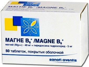 Магне В6: инструкция по применению препарата