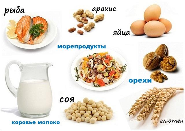 Продукты, которые могут спровоцировать возникновение аллергического дерматита