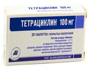 Тетрациклин применяется для лечения язвы желудка