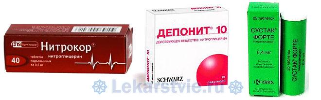 Сердечная недостаточность: симптомы лечение препаратами нитратами (Нитрокор, Депонит 10, Сусак форте)