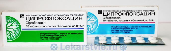 Ципрофлоксацин инструкция по применению таблетки