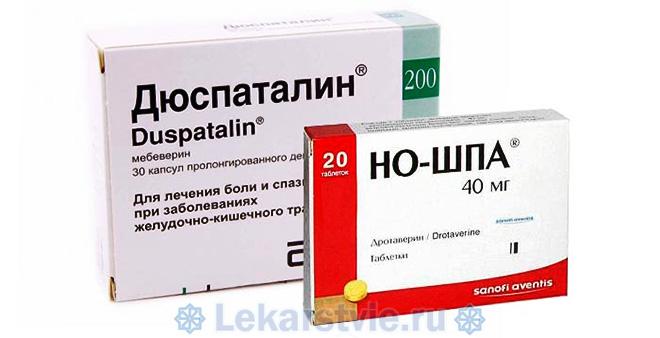 Дюспаталин и препарат аналогичного действия (Но-шпа)