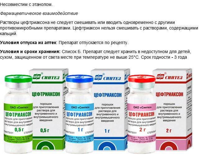 цефтриаксон антибиотик