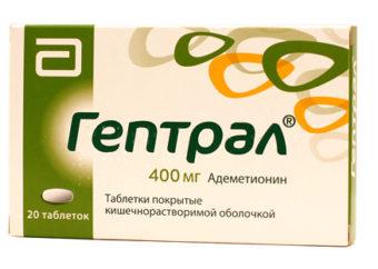 Гептрал: инструкция по применению препарата