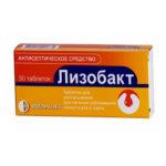 Лизобакт — официальная инструкция по применению (в форме таблеток для рассасывания), противопоказания, аналоги дешевле
