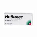 Небилет — официальная инструкция по применению (в форме таблеток), описание препарата, препараты аналоги